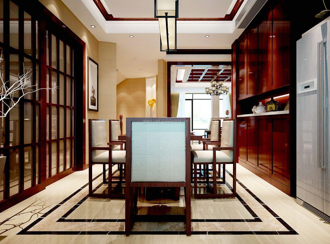 2017最新现代中式室内餐厅装修效果图大全