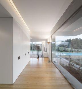 2017客厅过道木地板贴图欣赏-装修123网效果图大全