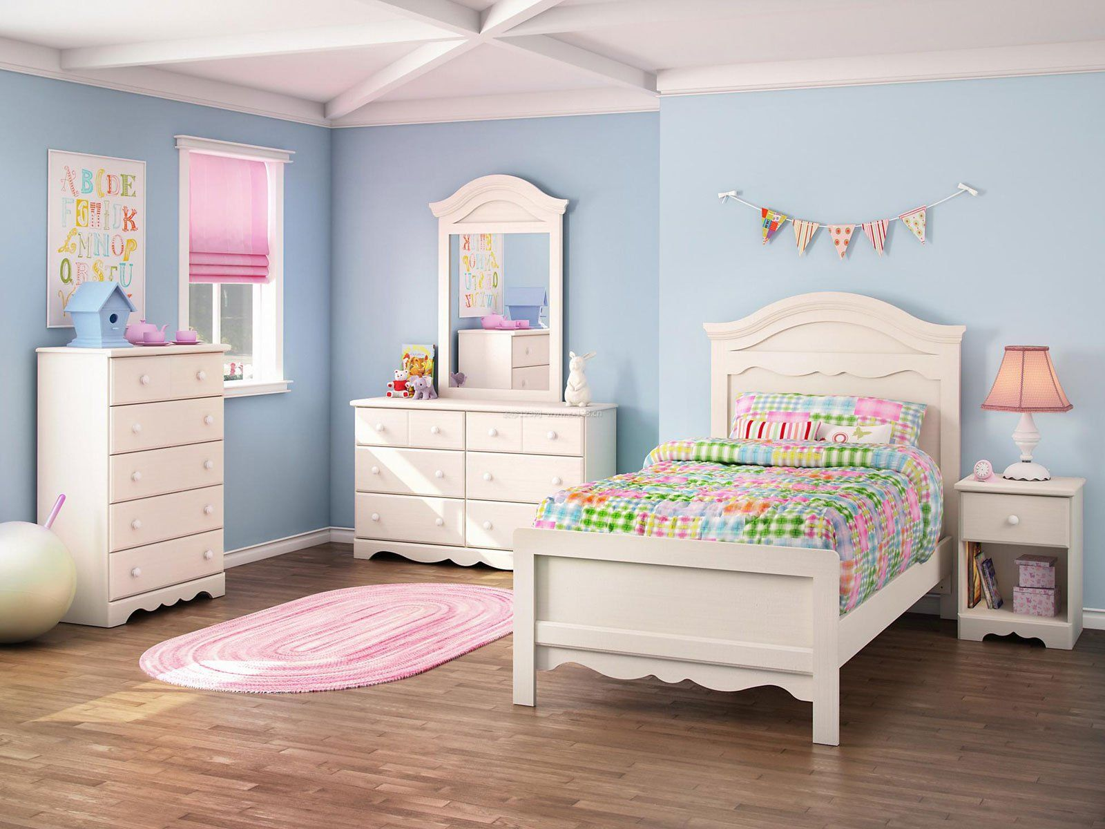 单身女生小卧室家具摆设装修图片