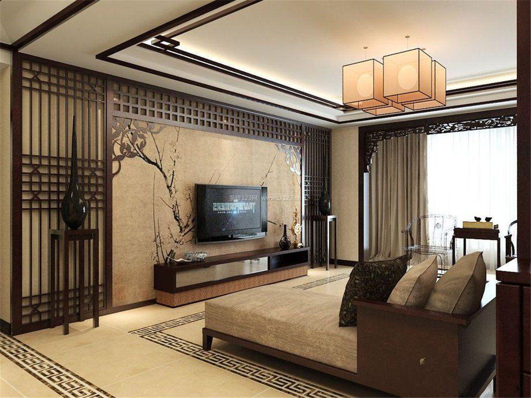 97平米三居室新中式室内装修效果图大全