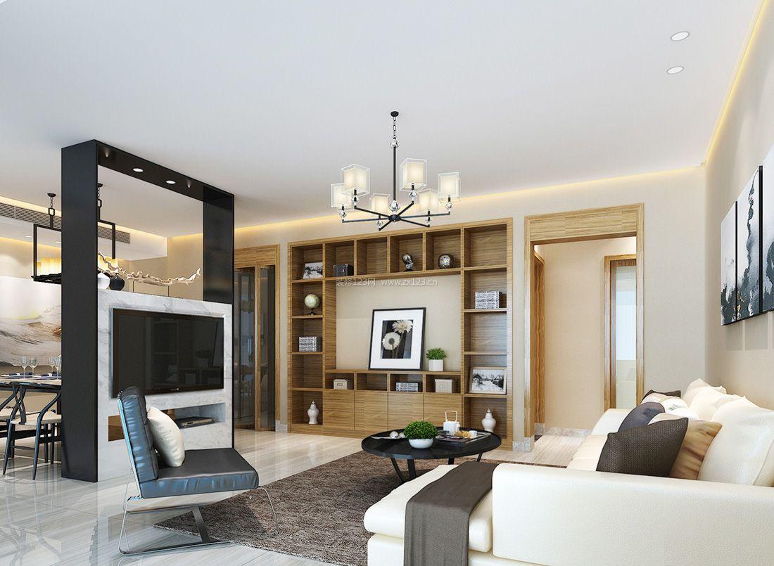 2017现代温馨家装客厅隔断装修效果图