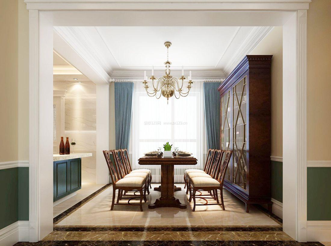 2017美式风格室内餐厅设计装修效果图片图片