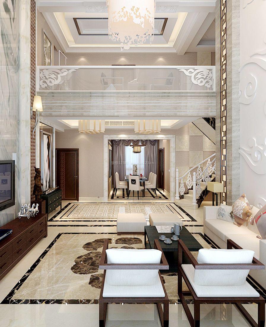 现代中式风格温馨家装客厅装修效果图