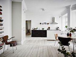 北欧简约风格开放式厨房装修设计效果图图片