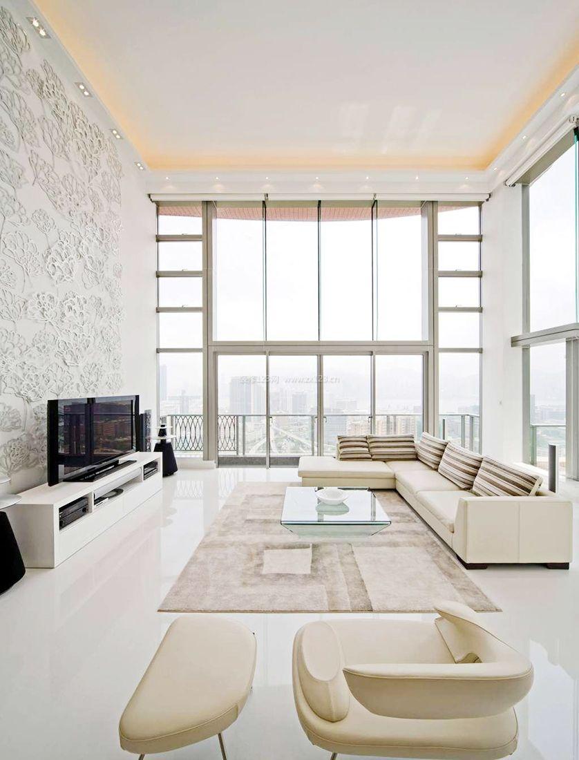 2017现代简约风格大客厅装修效果图片