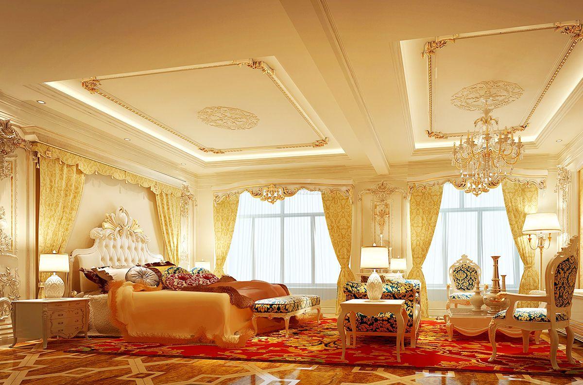 欧式别墅豪华卧室装修图片大全图片