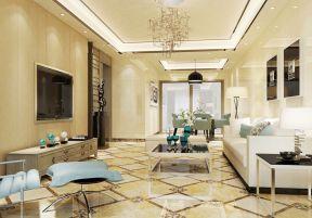 客厅现代简约风格 客厅地砖装修效果图片