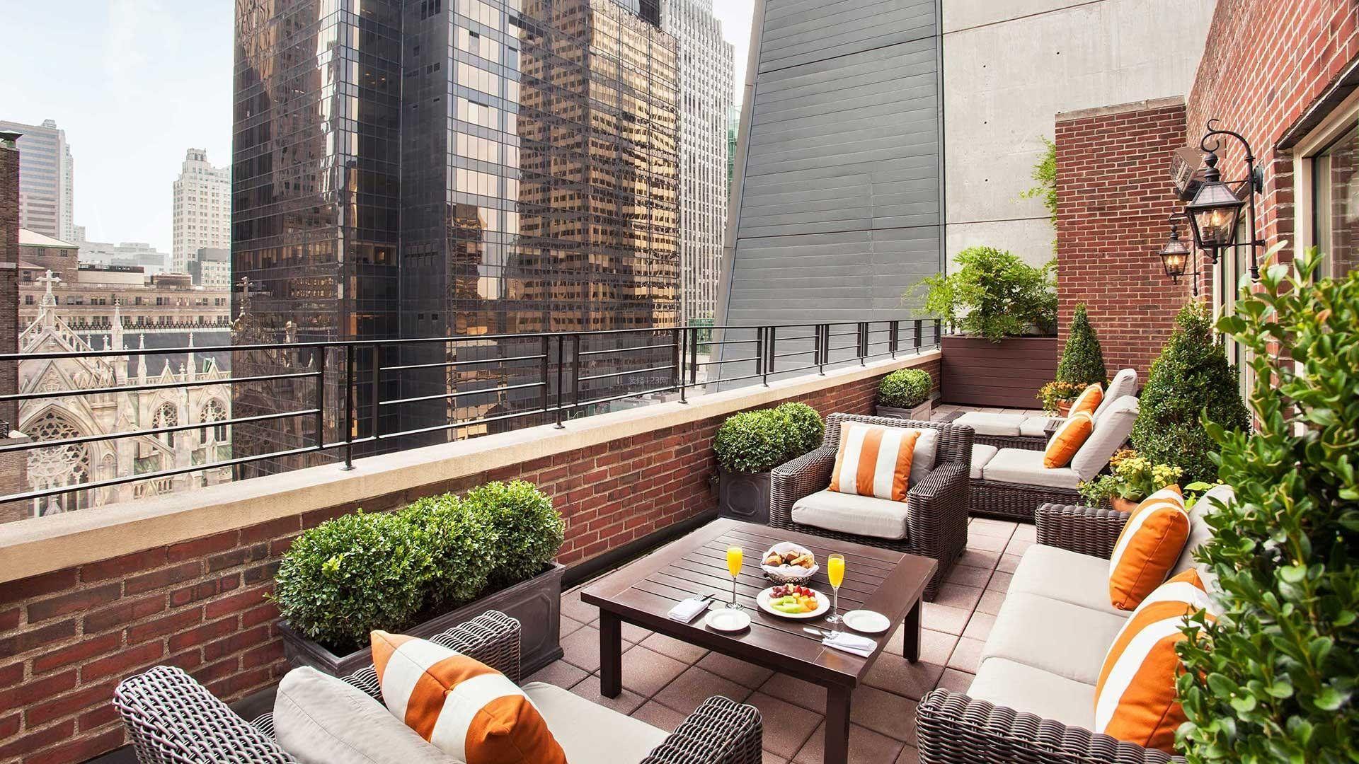 时尚家装设计客厅景观阳台休闲区图片