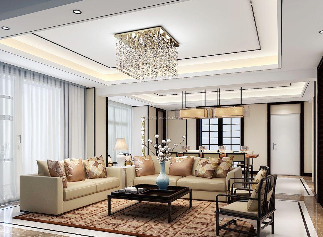 2017简约中式客厅装饰灯具装修图片大全