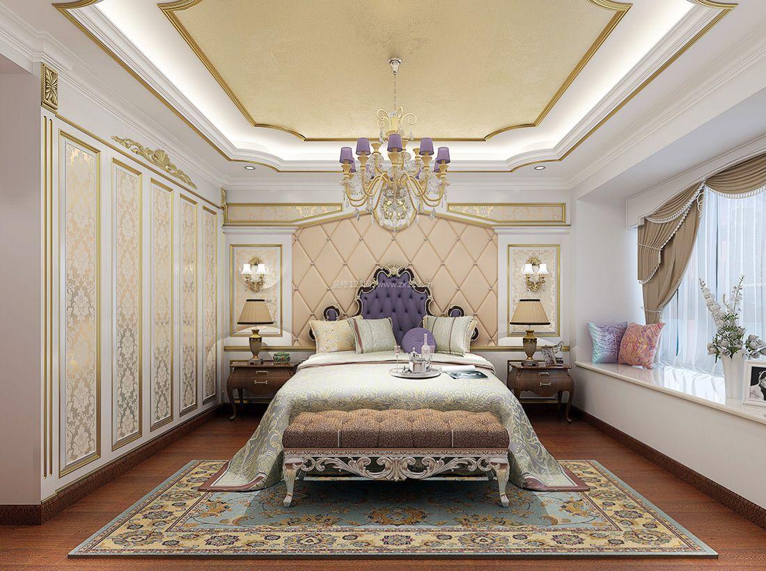 2017欧式宜家家居卧室地毯装修效果图片