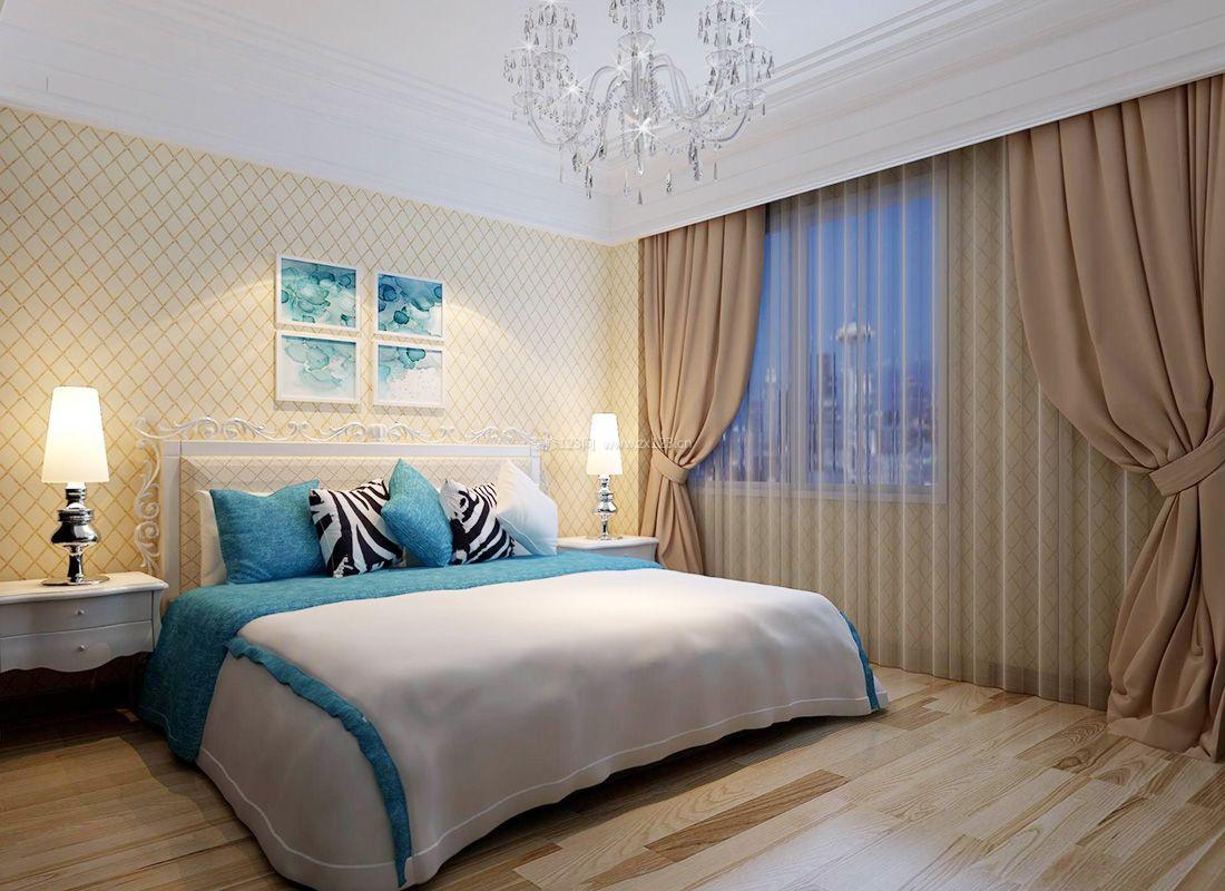 2017简欧家装宜家家居卧室窗帘搭配效果图_装修123图片