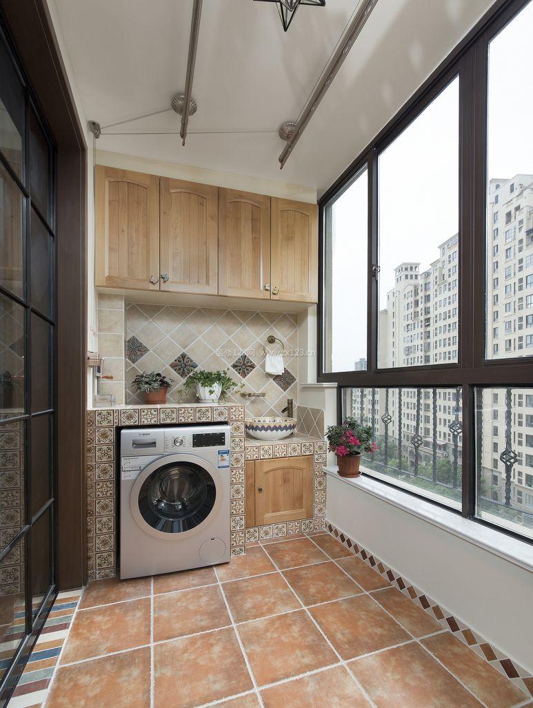 家居美式阳台设计装修效果图片