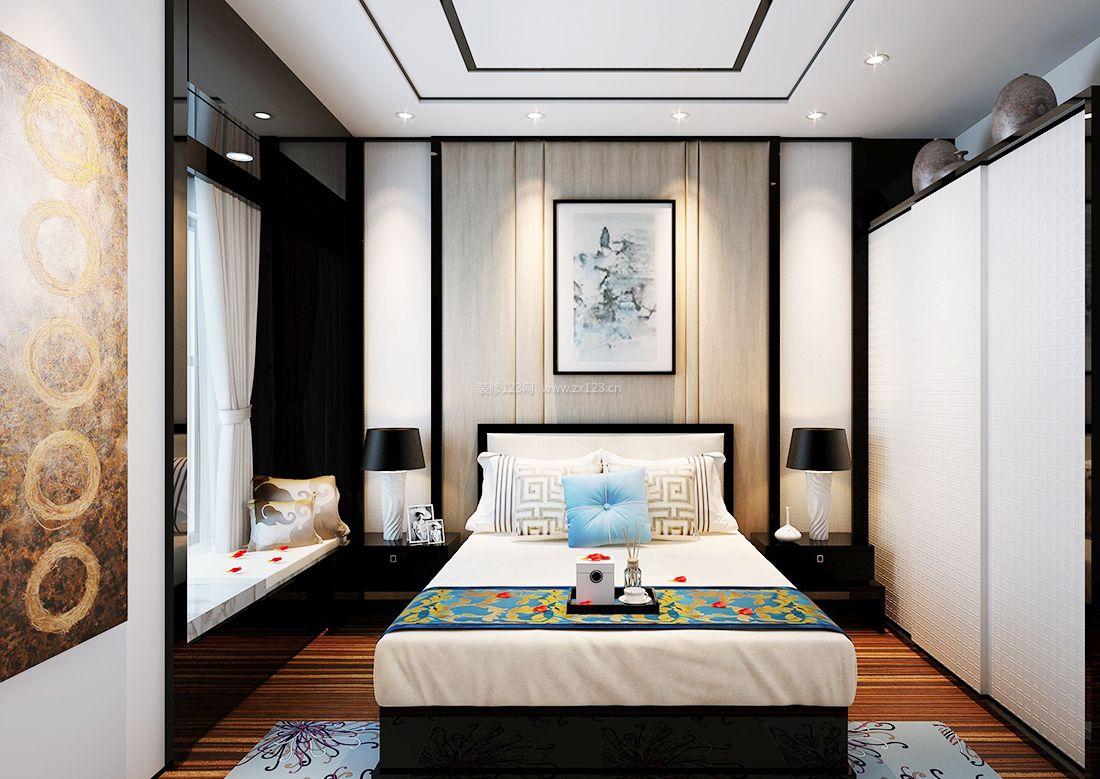 2017中式房屋背景墙装饰装修效果图片案例