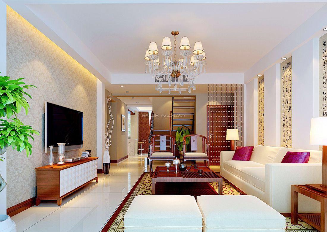 家装效果图 中式 2017中式房屋组合沙发装修效果图片 提供者