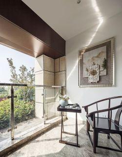 简约中式家庭阳台装修效果图2017