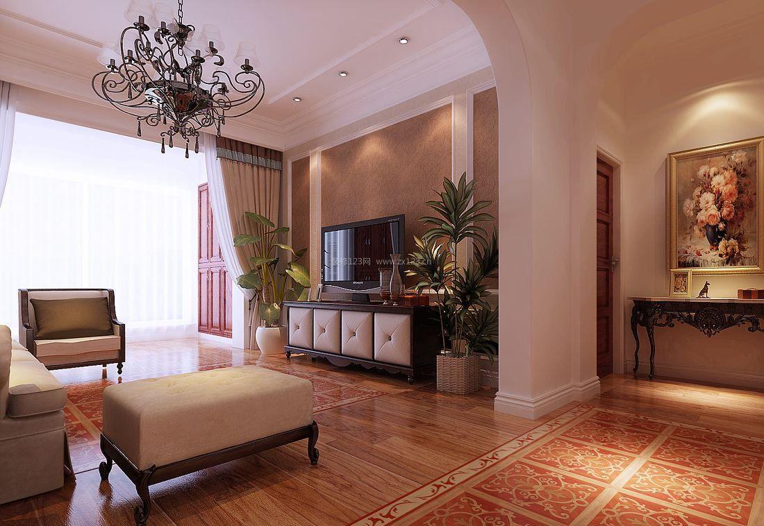 时尚家装设计阳台与客厅隔断设计效果图_装修123效果图