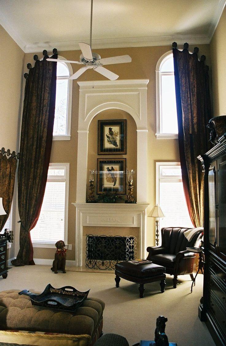 复式欧式客厅壁炉装修效果图片
