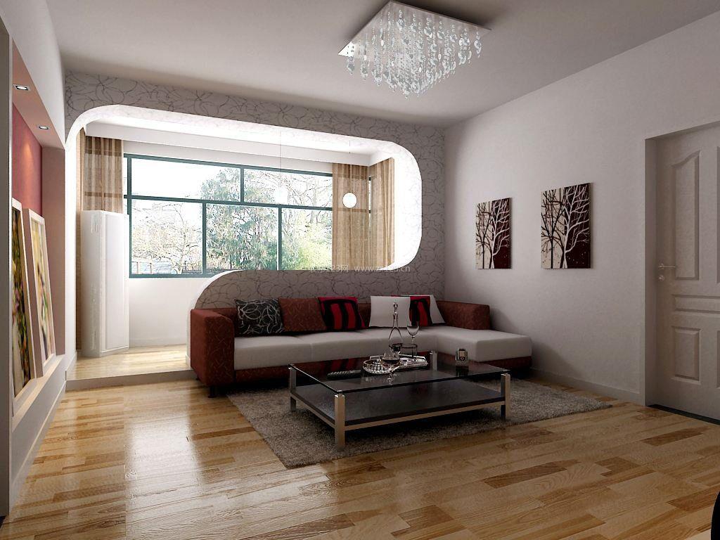 現代簡約家裝風格陽臺與客廳隔斷設計效果圖