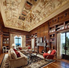復式歐式 客廳吊頂裝潢