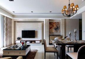 新古典客廳風格 餐廳客廳裝修圖