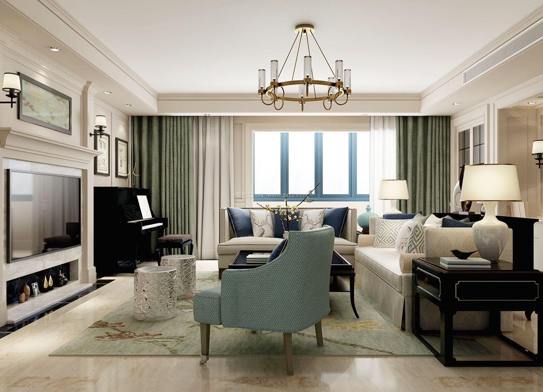最新美式风格时尚客厅吊灯装修效果图片案例图片