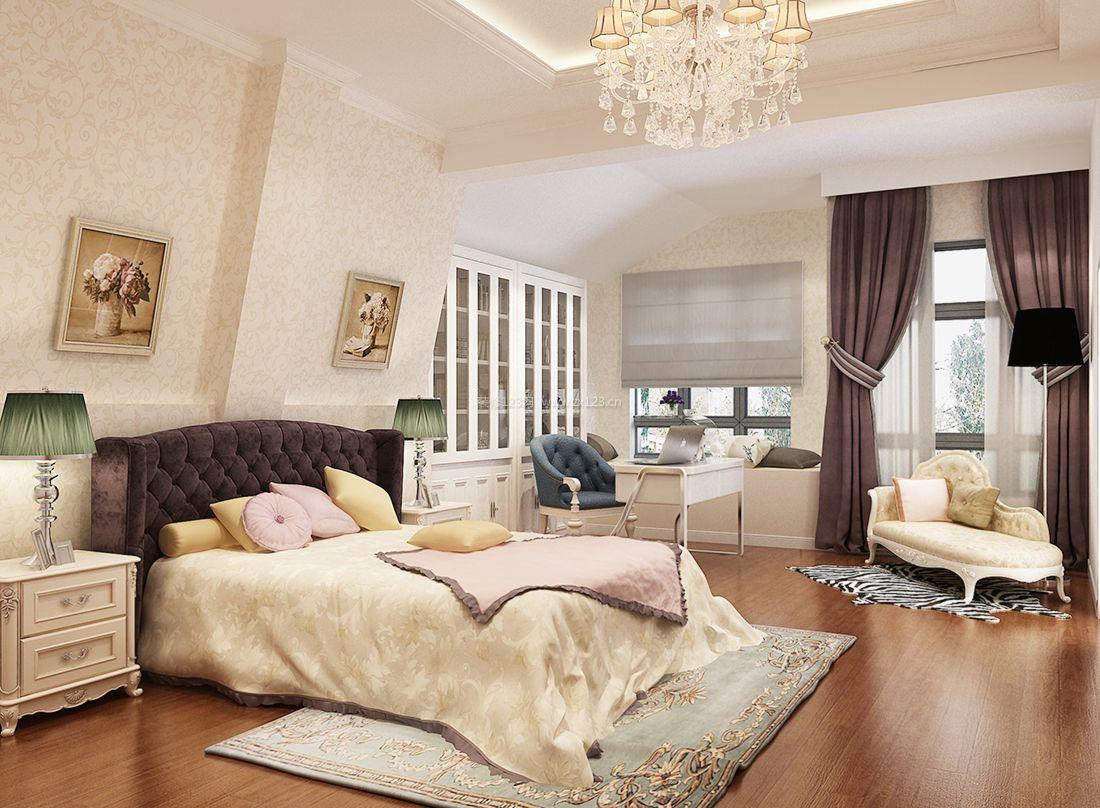 最新欧式复式楼阁楼卧室装修效果图2017图片