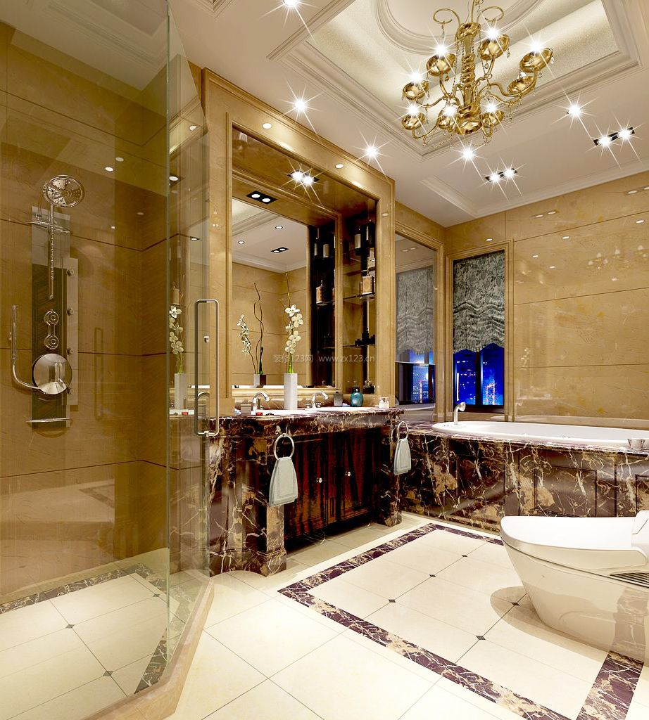 欧式洗手间装修效果图片大全
