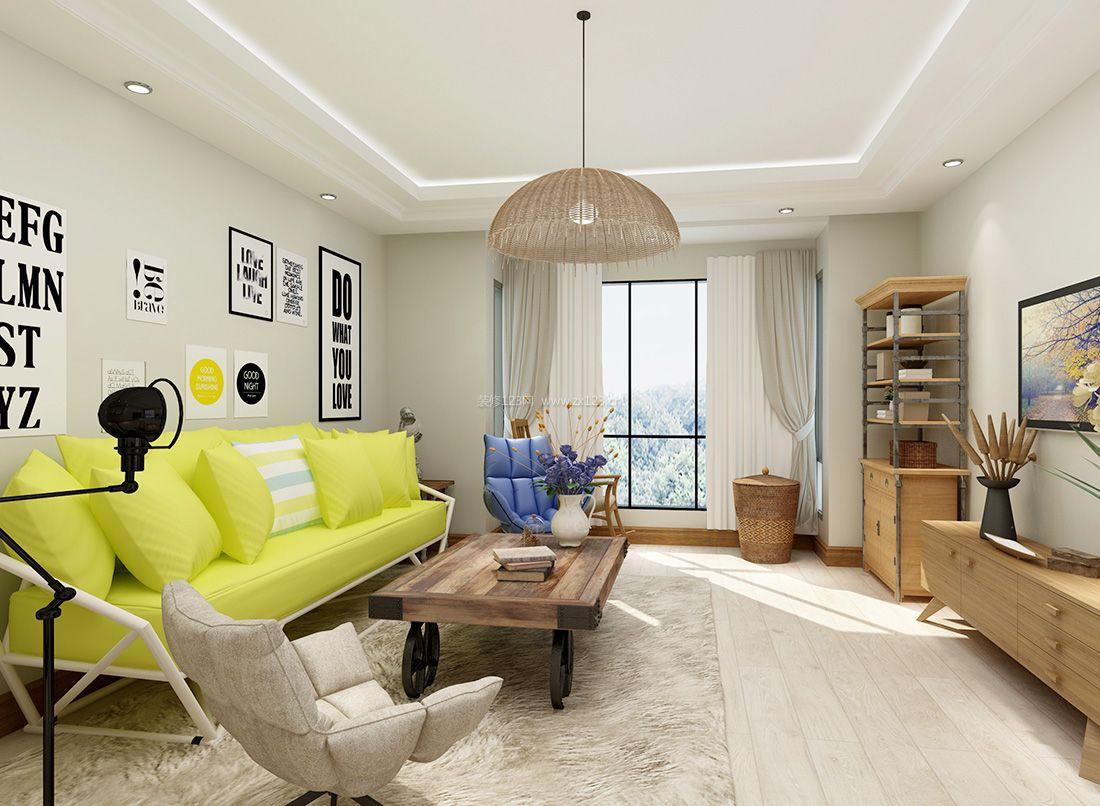 家装效果图 美式 最新美式风格时尚简约客厅灯装修效果图 提供者图片