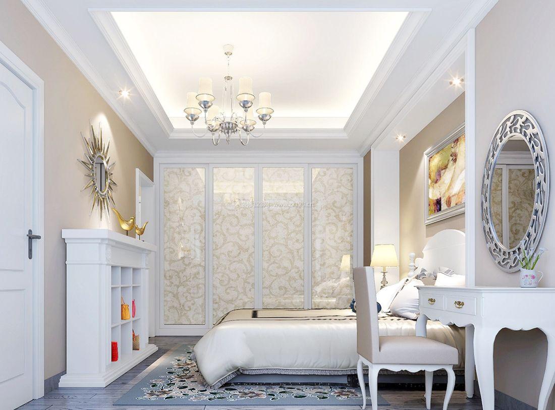 欧式大型别墅卧室床头台灯设计图