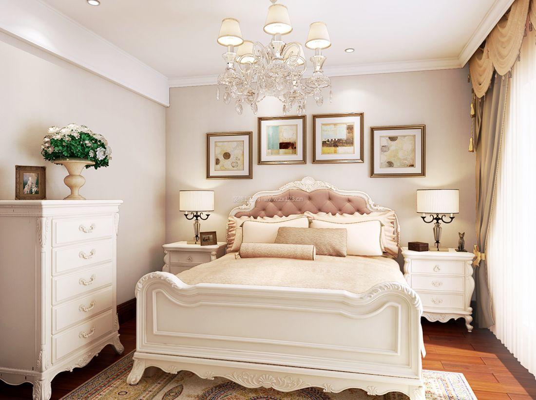 最新欧式田园风格卧室床头台灯装修效果图