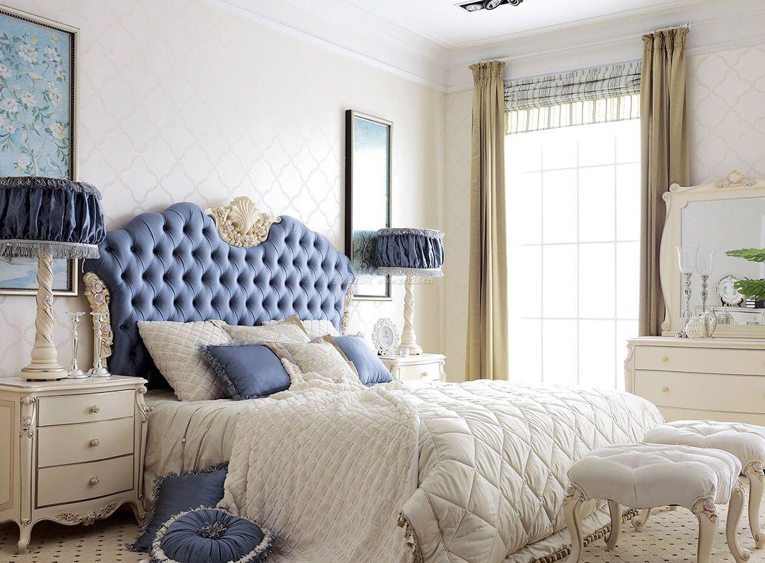2017欧式古典风格卧室床头台灯装修效果图片