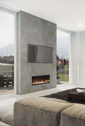 簡約客廳電視背景 現代簡約家裝圖片
