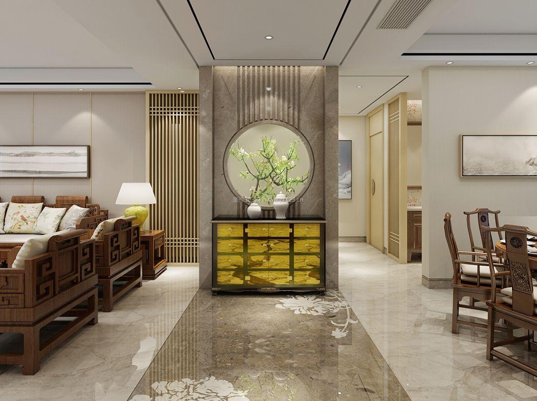 90平米室内中式元素设计装修效果图专业中国家具设计大全排行图片