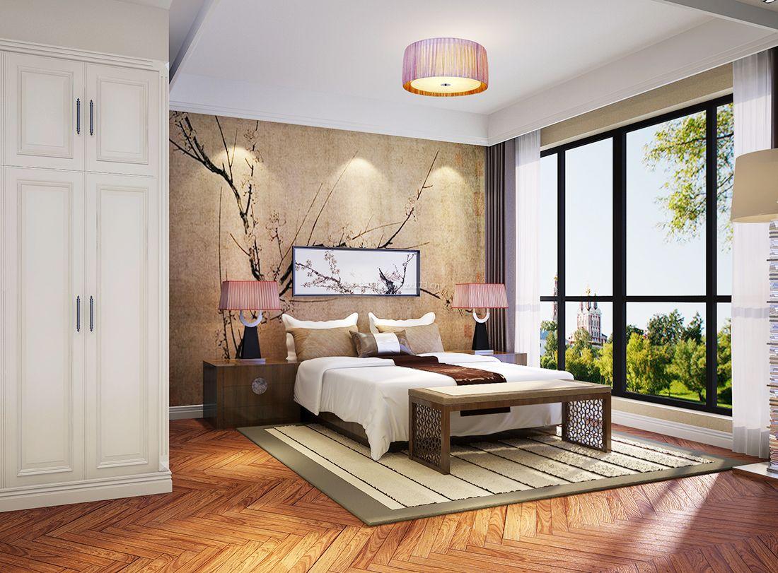 2017别墅室内卧室中式元素设计装修效果图大全图片