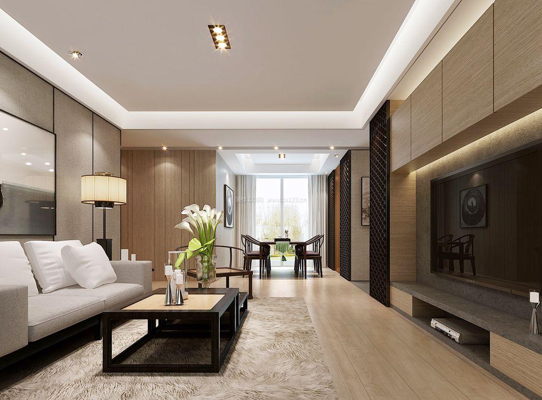 家装效果图 中式 2017室内简约客厅中式元素设计装修效果图 提供者图片