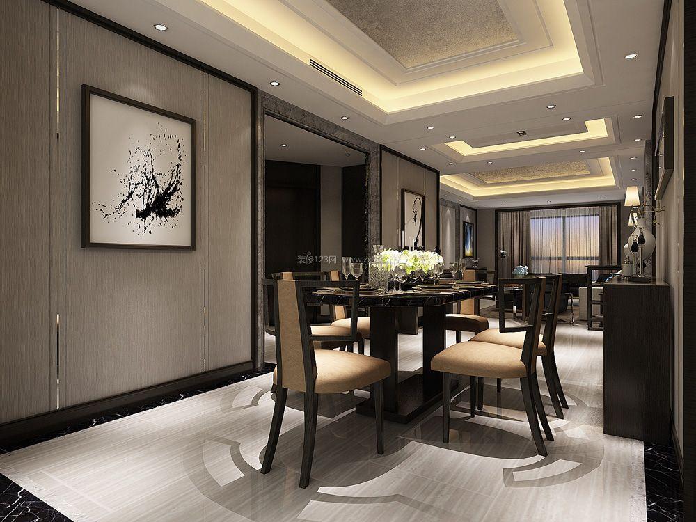 装修整体效果图大全-秀居网 港式餐厅风格餐厅天然大理石餐桌装修设计