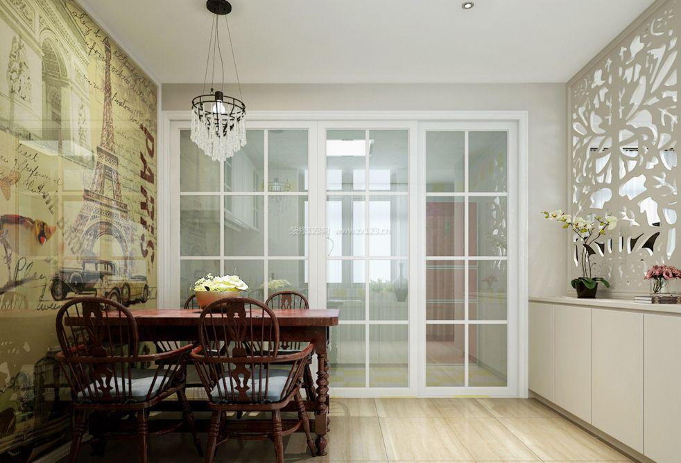 厨房与餐厅隔断玻璃门装修效果图片