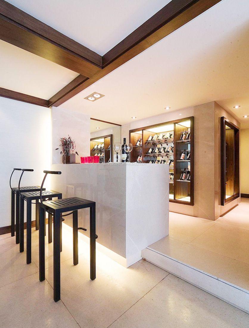 现代中式风格时尚家庭吧台装修图片2017