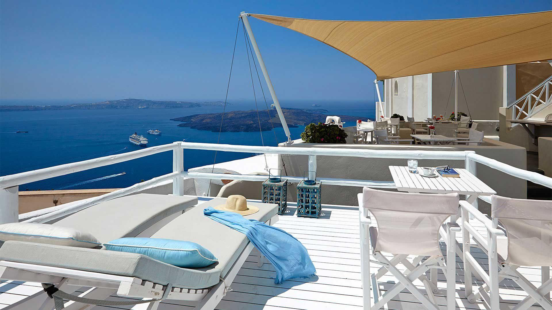 海边别墅房屋阳台图片