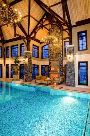 国外别墅室内 游泳池设计