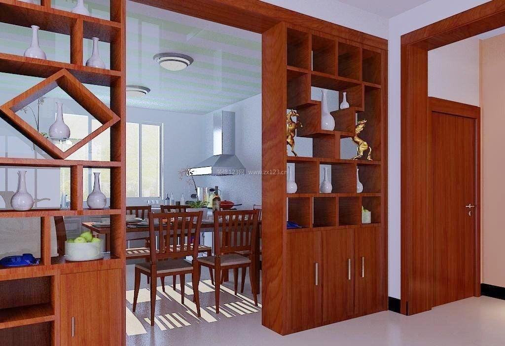 家庭厨房隔断柜效果图图片