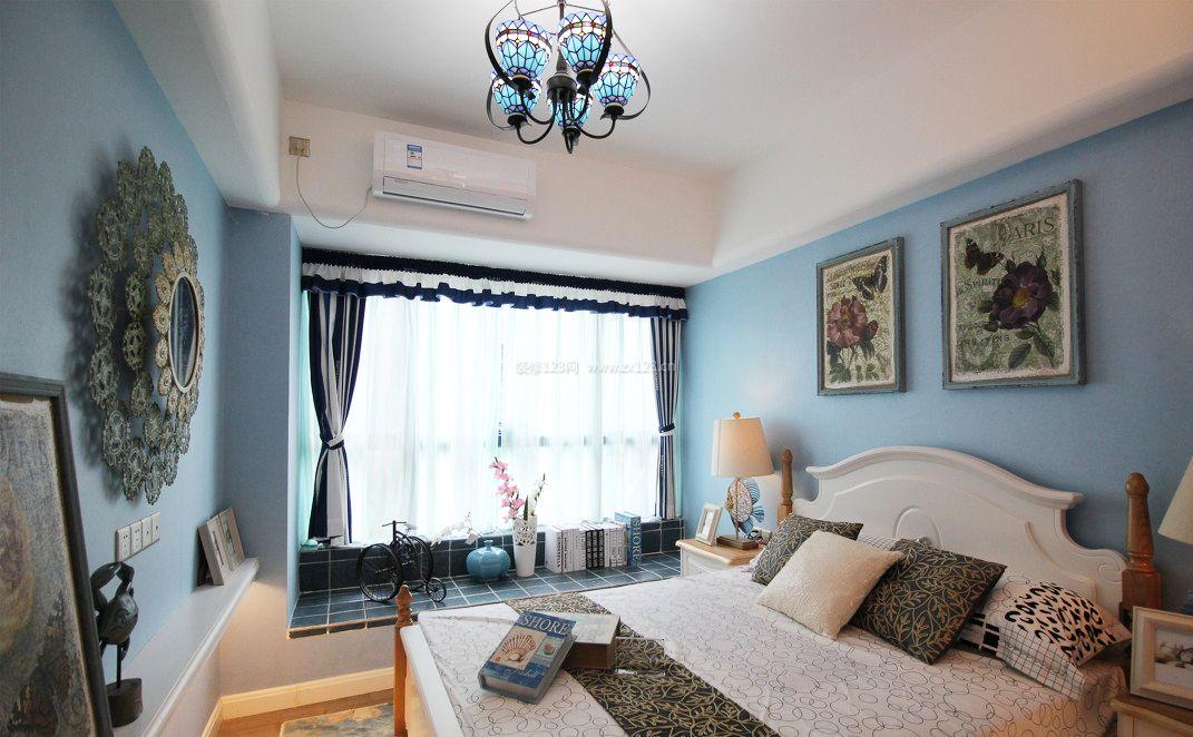 地中海布局室内论文飘窗v布局效果图_装修123建筑设计风格性卧室图片