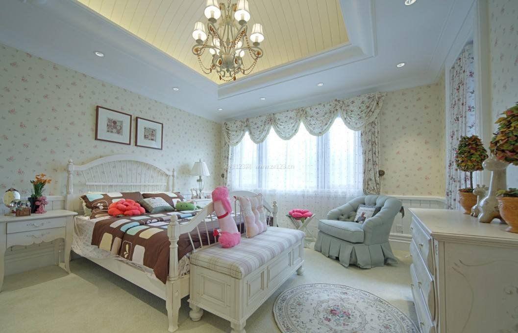欧式家装卧室墙纸装修效果图图片