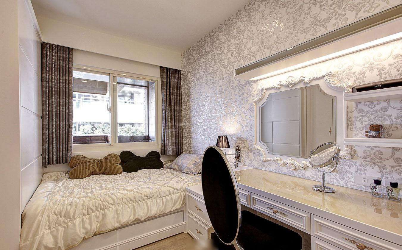 欧式家装卧室墙纸图片大全