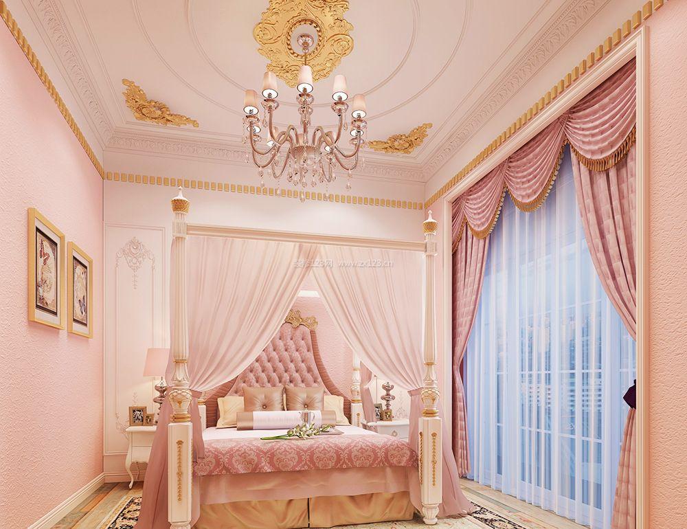 欧式豪华卧室吊顶装饰设计效果图图片