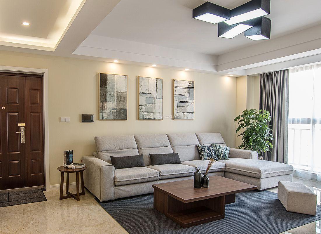 最新简约小户型客厅沙发装修效果图片2017