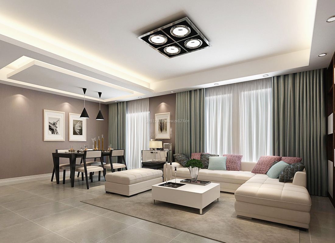 現代簡約小戶型客廳設計沙發裝修效果圖