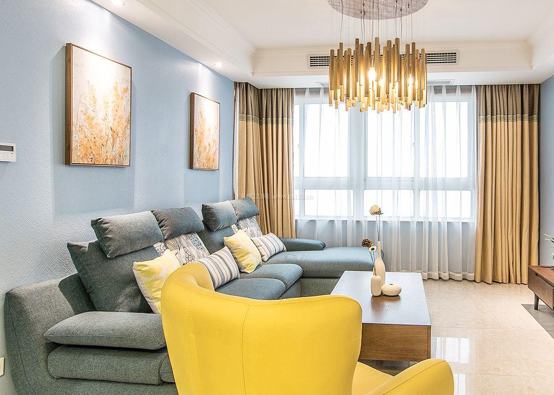 混搭小户型客厅沙发装修效果图片2017