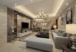 現代復式樓客廳整體裝修效果圖
