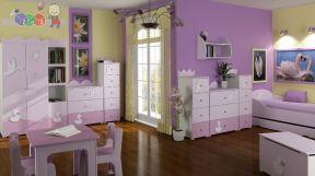 紫色卧室 80平米小户型装修